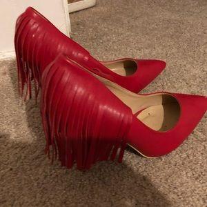 Red Fringe Shoes